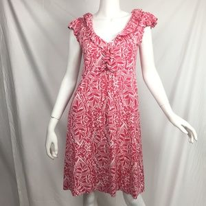 Lilly Pulitzer M Clare dress silk blend punch pink